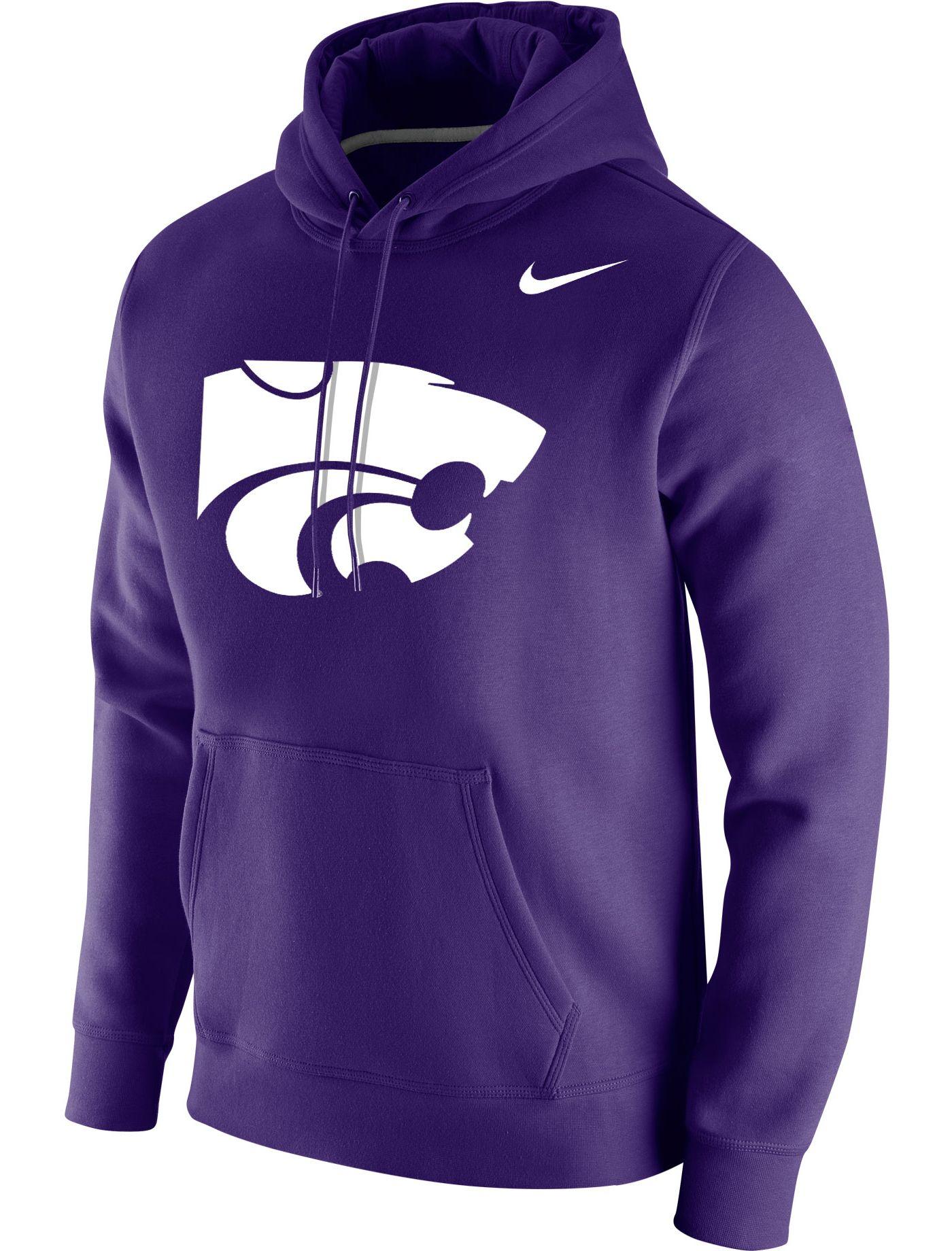 Nike Men's Kansas State Wildcats Purple Club Fleece Pullover Hoodie