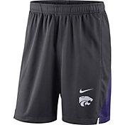 Nike Men's Kansas State Wildcats Grey Franchise Shorts