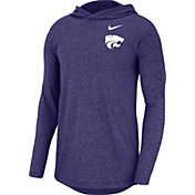 Nike Men's Kansas State Wildcats Purple Marled Long Sleeve Hoodie