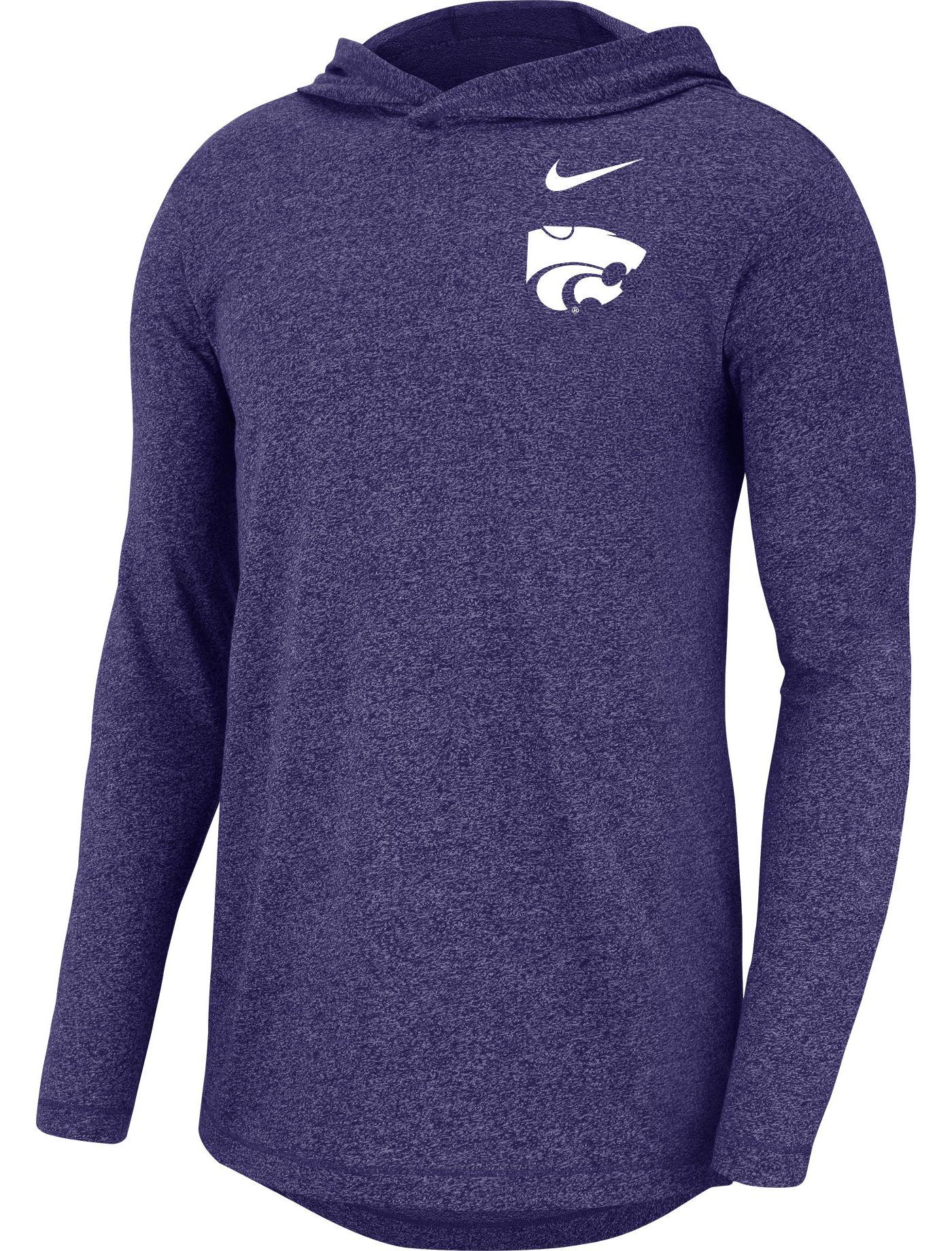 Nike Men's Kansas State Wildcats Purple Marled Long Sleeve Hoodie