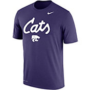 Nike Men's Kansas State Wildcats Purple 'Cats' Football T-Shirt