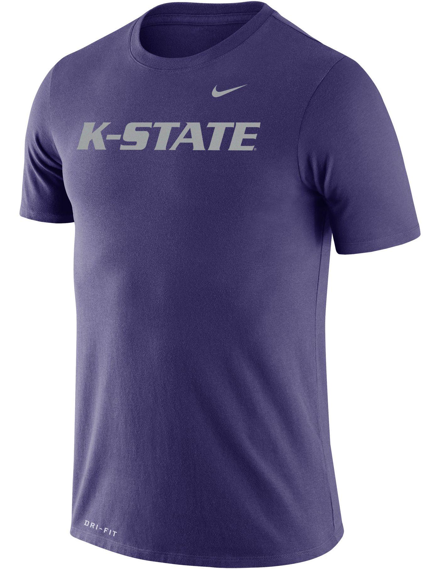 Nike Men's Kansas State Wildcats Purple Dri-FIT Cotton Word T-Shirt