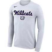 Nike Men's Kansas State Wildcats Dri-FIT Retro Basketball Long Sleeve White T-Shirt