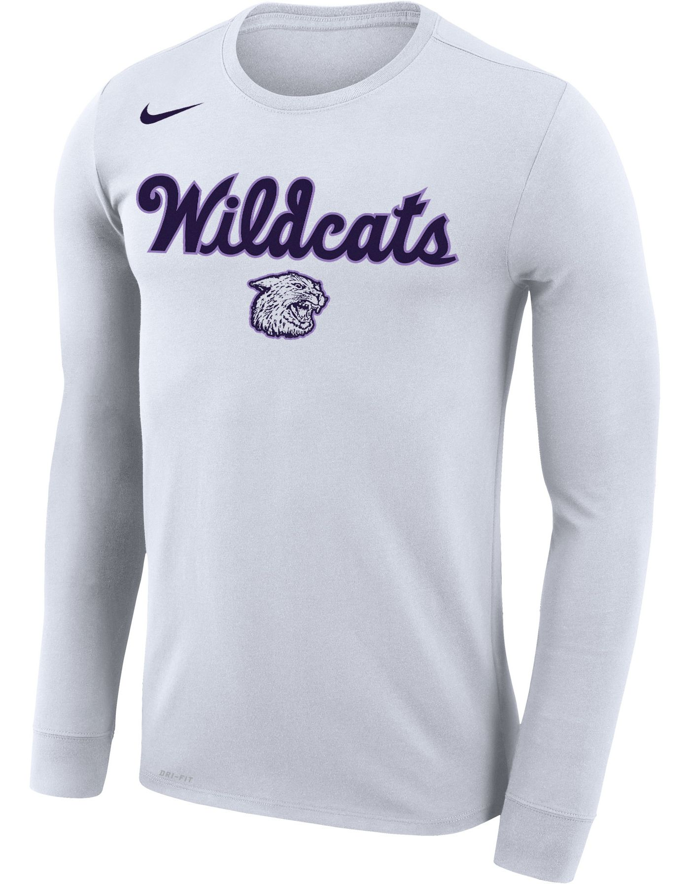 Nike Men's Kansas State Wildcats Dri-FIT Retro Basketball Long Sleeve White T-Shirt