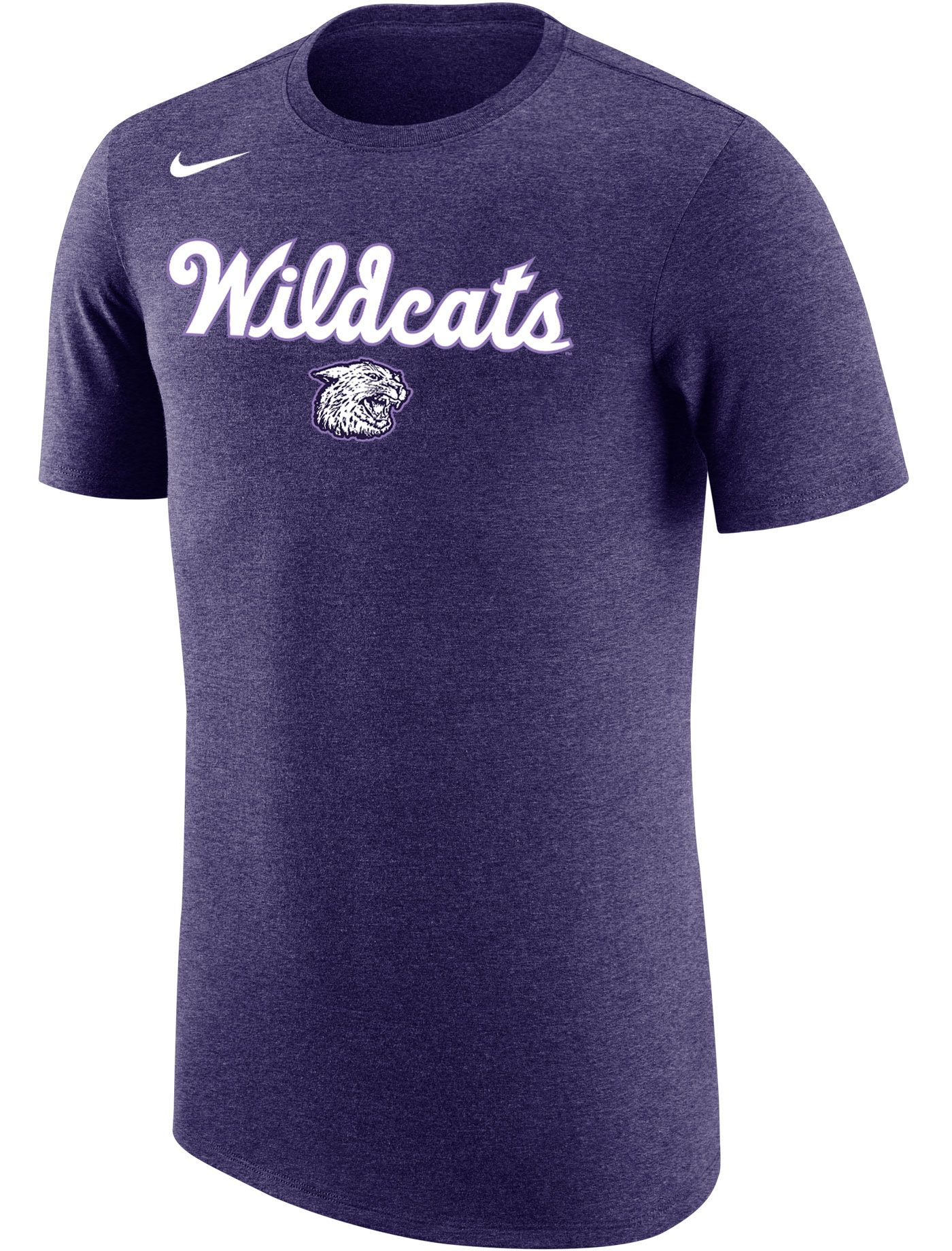 Nike Men's Kansas State Wildcats Purple Dri-FIT Retro Basketball T-Shirt