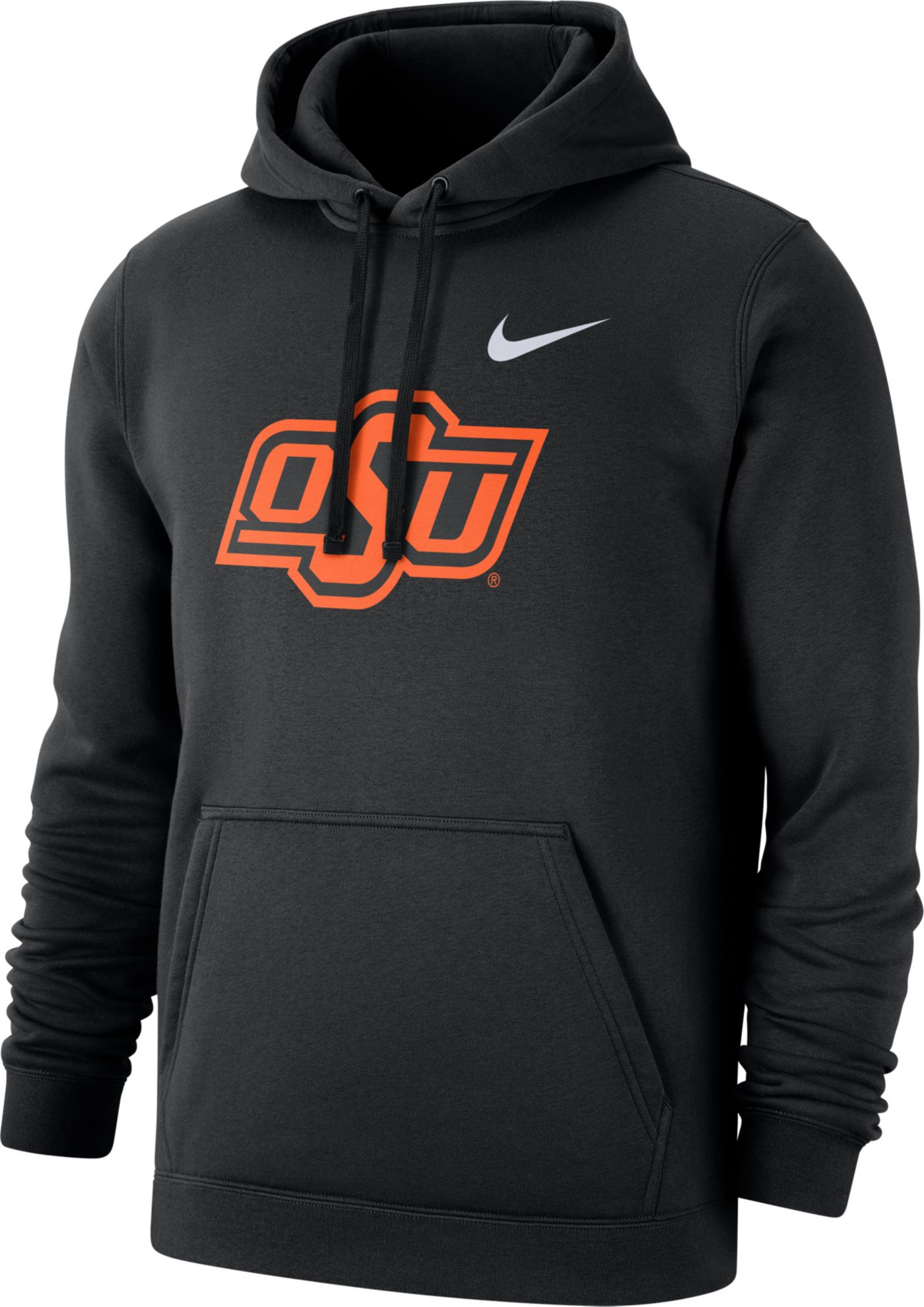 Nike Men's Oklahoma State Cowboys Club Fleece Pullover Black Hoodie