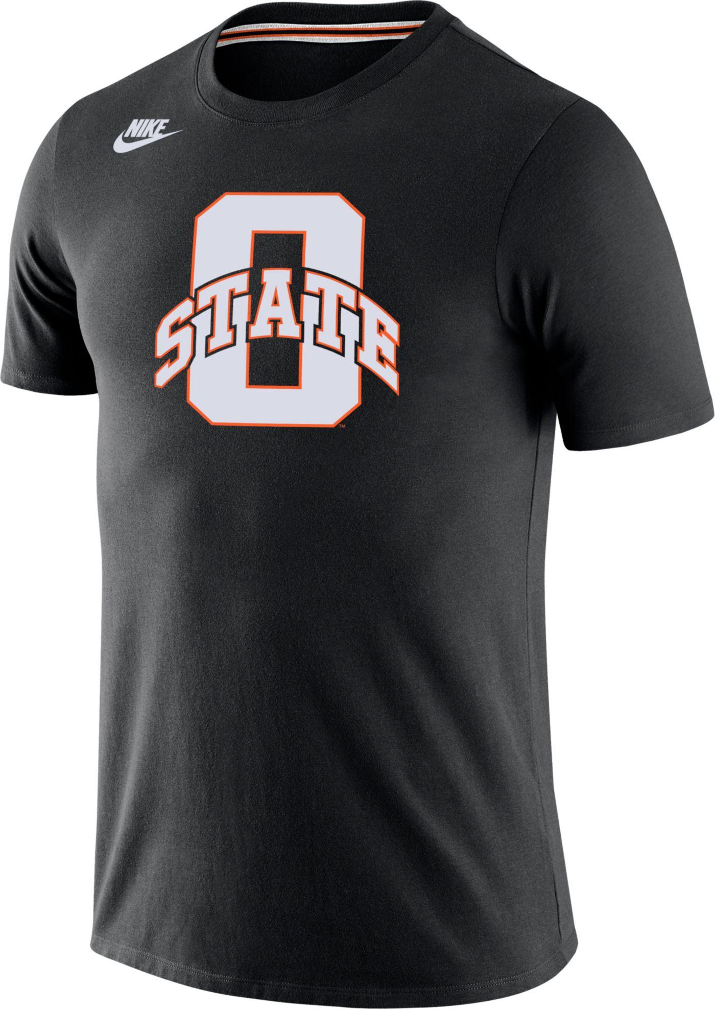 Nike Men's Oklahoma State Cowboys Tri-Blend Retro Black T-Shirt