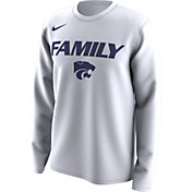Nike Men's Kansas State Wildcats 'Family' Bench Long Sleeve White T-Shirt