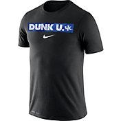 Nike Men's Kentucky Wildcats Dri-FIT Cotton 'Dunk U.' Basketball Black T-Shirt