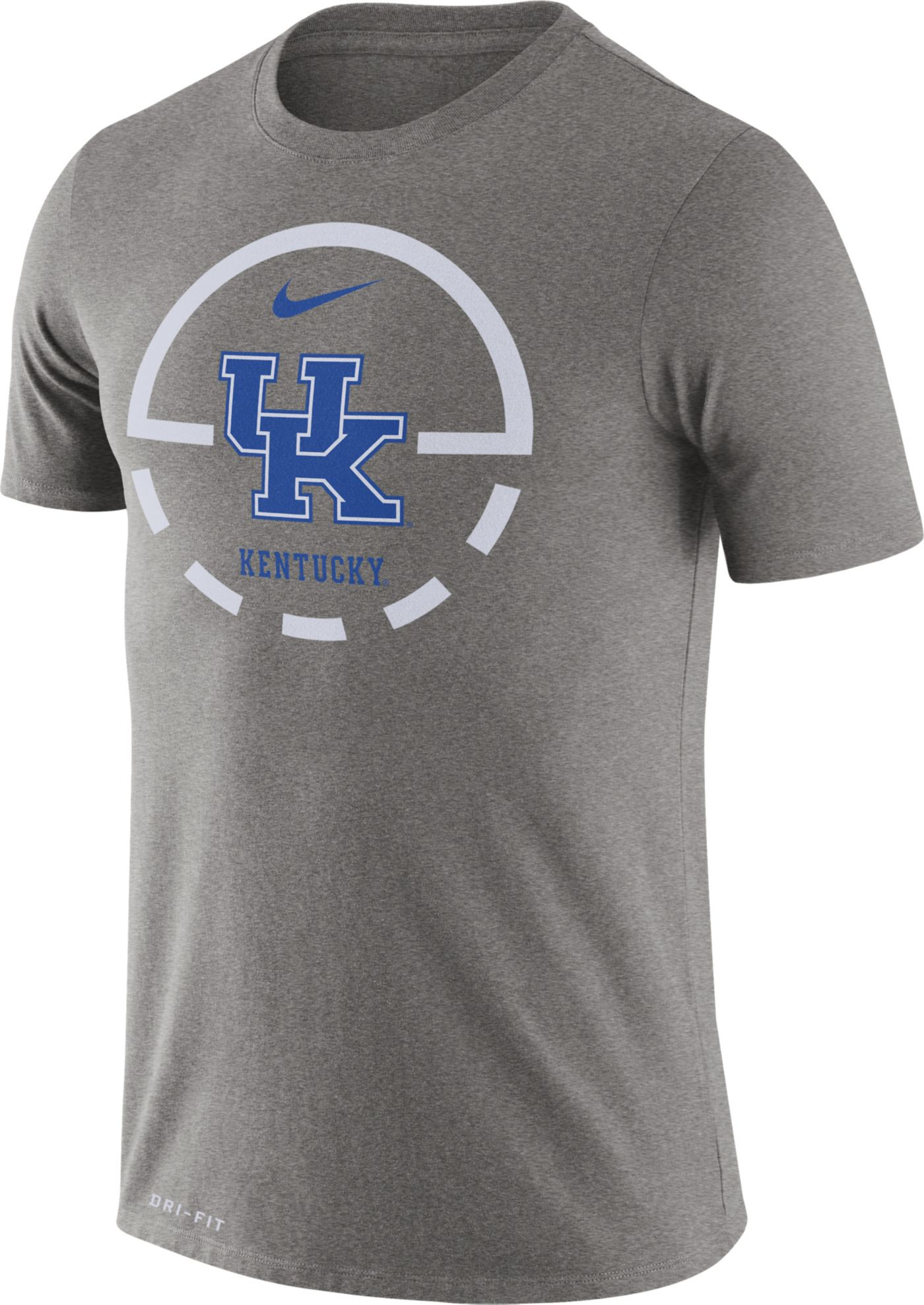 Nike Men's Kentucky Wildcats Grey Legend Basketball Key T-Shirt