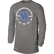 Nike Men's Kentucky Wildcats Grey Legend Basketball Key Long Sleeve T-Shirt