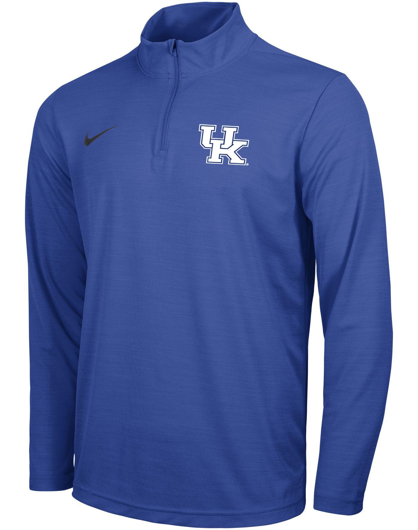 Nike Men's Kentucky Wildcats Blue Intensity Quarter-Zip Shirt