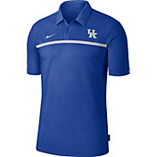 Nike Men's Kentucky Wildcats Blue Dri-FIT Football Sideline Polo