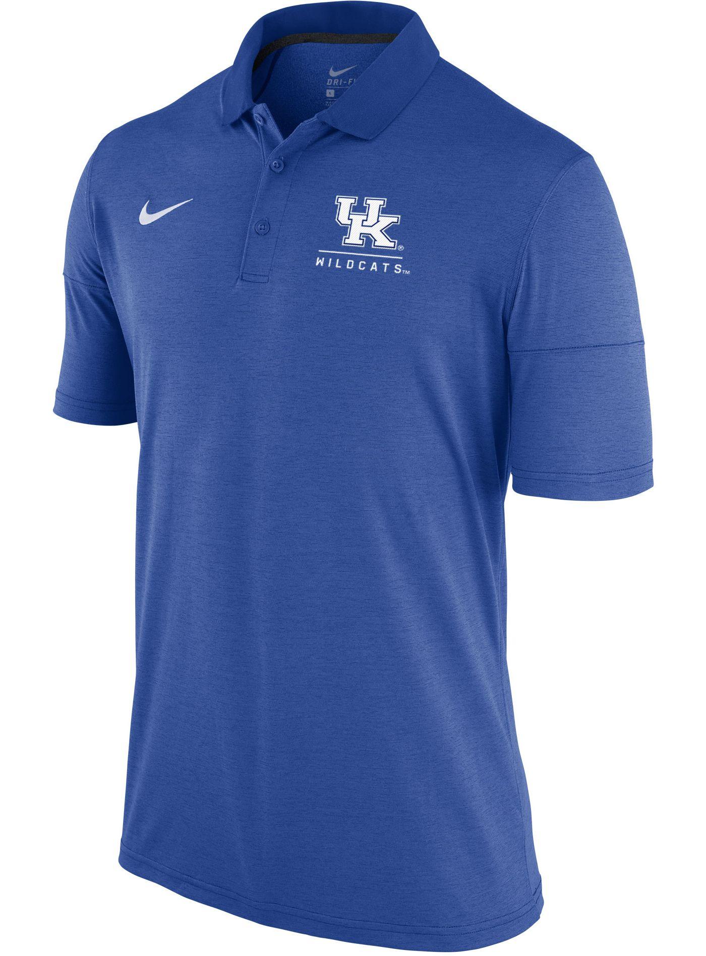 Nike Men's Kentucky Wildcats Blue Dry Lightweight Polo
