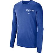 Nike Men's Kentucky Wildcats Blue Dri-FIT Cotton Basketball Long Sleeve T-Shirt