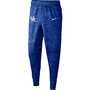 Nike Men's Kentucky Wildcats Blue Dri-FIT Spotlight Basketball Fleece Pants