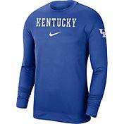 Nike Men's Kentucky Wildcats Blue Dri-FIT Spotlight Long Sleeve Basketball T-Shirt