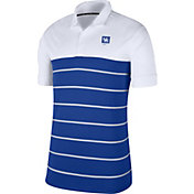 Nike Men's Kentucky Wildcats White/Blue Striped Polo