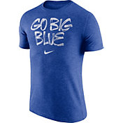 Nike Men's Kentucky Wildcats Blue 'Go Big Blue' Tri-Blend Verbiage T-Shirt