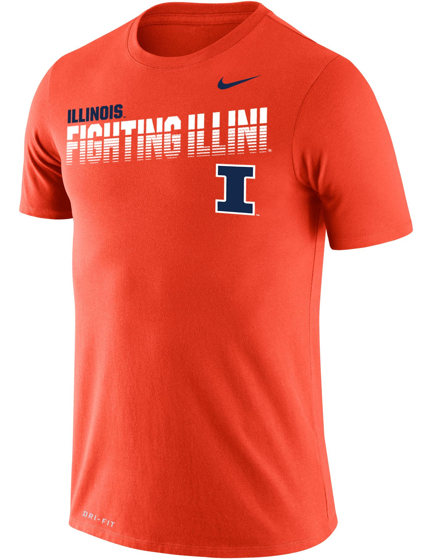 Nike Men's Illinois Fighting Illini Orange Legend Football Sideline T-Shirt