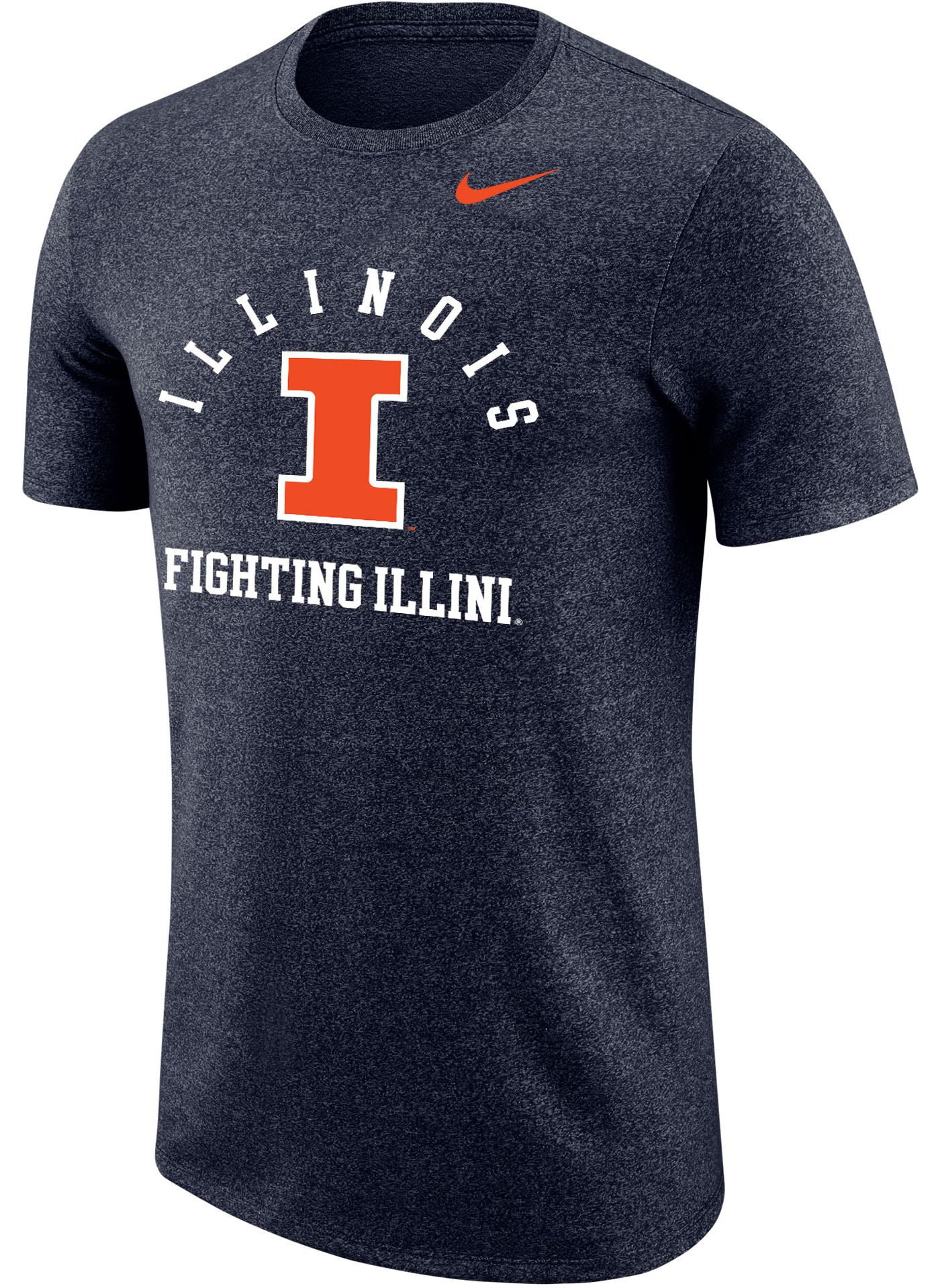 Nike Men's Illinois Fighting Illini Blue Marled Raglan T-Shirt