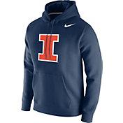 Nike Men's Illinois Fighting Illini Blue Club Fleece Pullover Hoodie