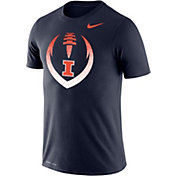 Nike Men's Illinois Fighting Illini Blue Dri-FIT Cotton Football Icon T-Shirt