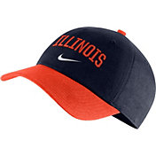Nike Men's Illinois Fighting Illini Blue/Orange Heritage86 Arch Wordmark Hat