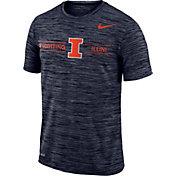 Nike Men's Illinois Fighting Illini Blue Velocity Football T-Shirt