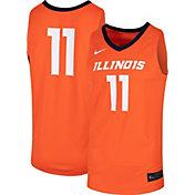 Nike Men's Illinois Fighting Illini #11 Orange Replica Basketball Jersey