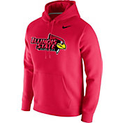 Nike Men's Illinois State Redbirds Red Club Fleece Pullover Hoodie