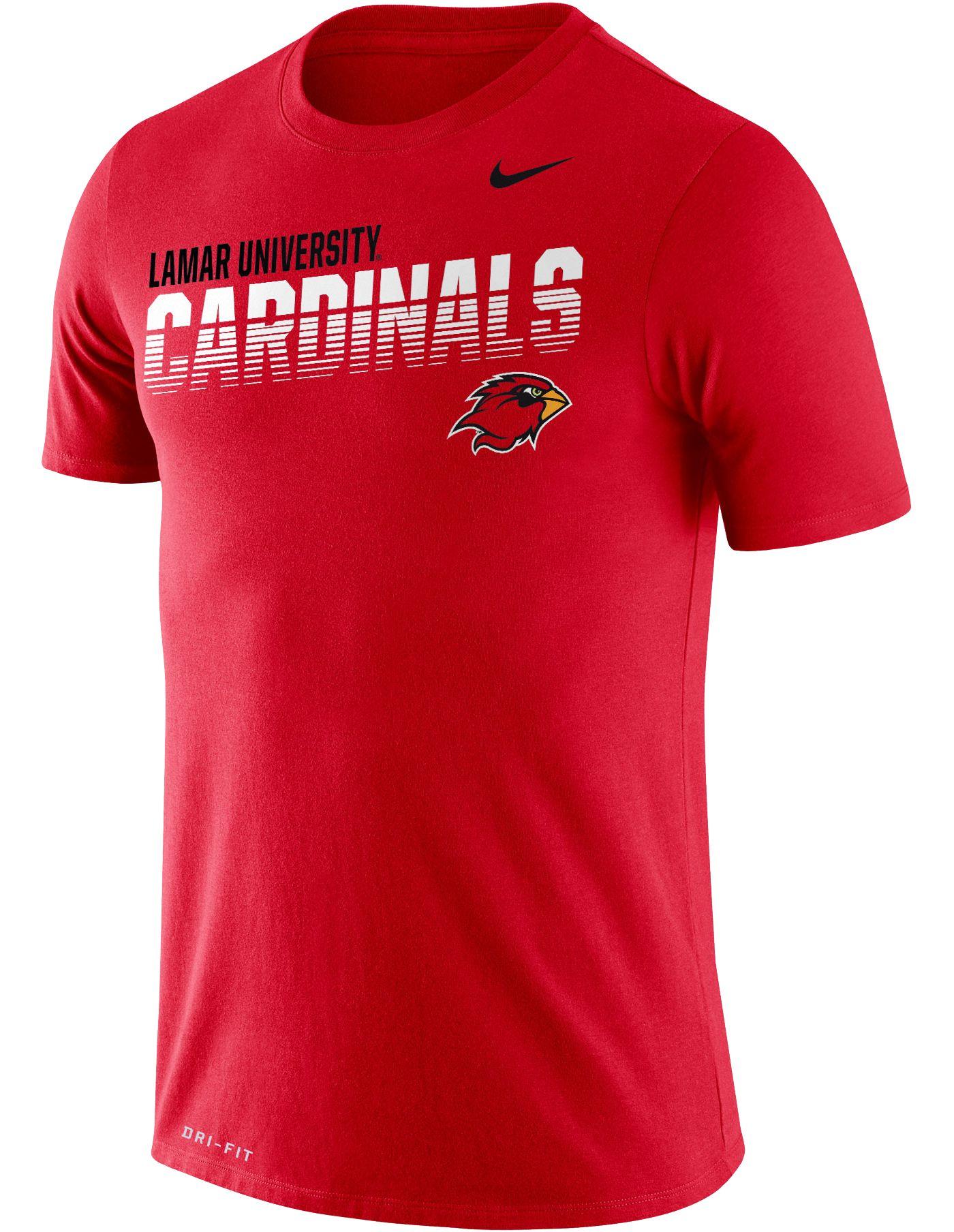 Nike Men's Lamar Cardinals Red Legend Football Sideline T-Shirt