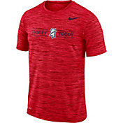 Nike Men's Ole Miss Rebels Red Velocity 'Hotty Toddy' Football T-Shirt