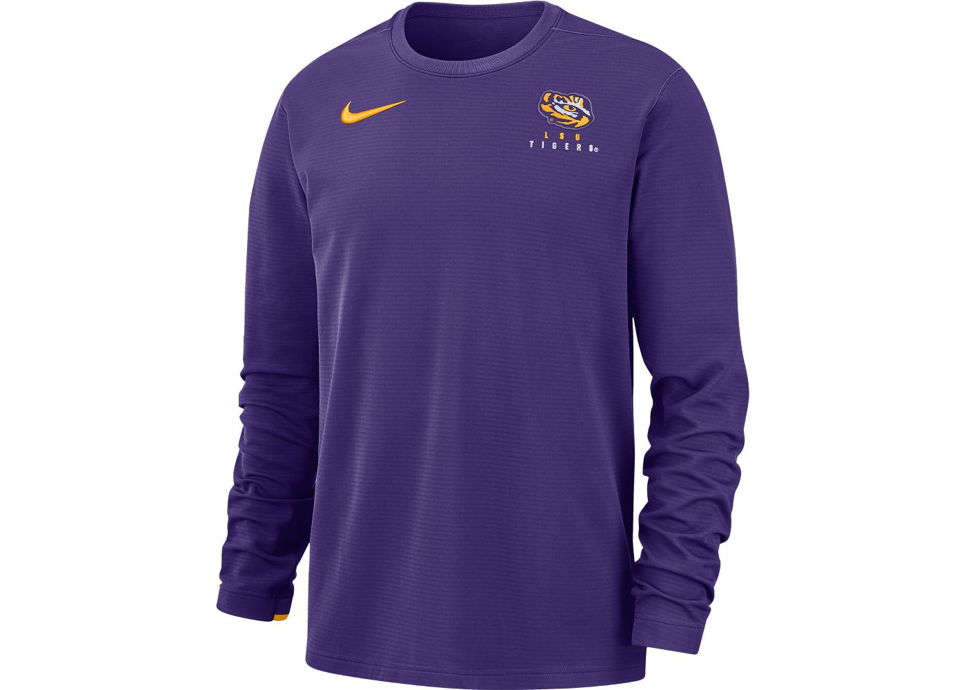 Nike Men's LSU Tigers Purple Dri-FIT Modern Long Sleeve Crew Neck T-Shirt