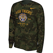 Nike Men's LSU Tigers Camo Veteran Long Sleeve T-Shirt