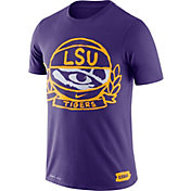 Nike Men's LSU Tigers Purple Dry Crest Basketball T-Shirt