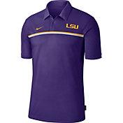 Nike Men's LSU Tigers Purple Dri-FIT Football Sideline Polo