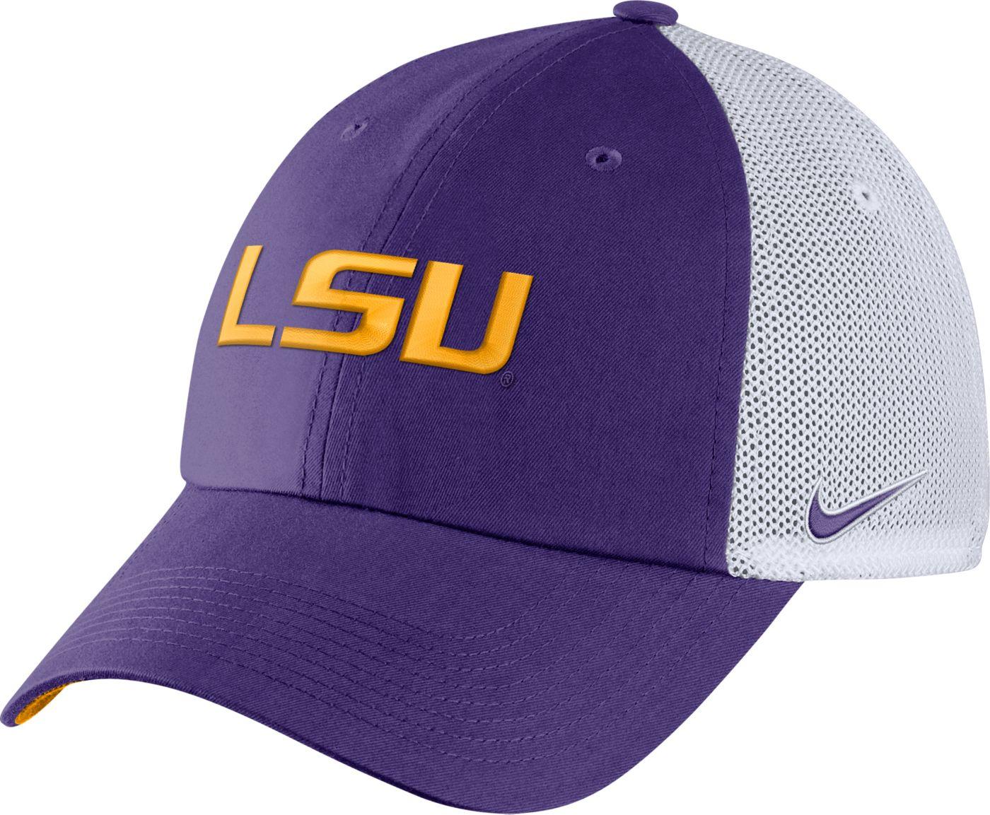 Nike Men's LSU Tigers Purple Heritage86 Logo Hat