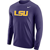 Nike Men's LSU Tigers Purple Long Sleeve Cotton T-Shirt
