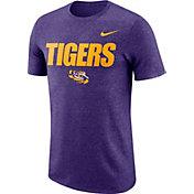 Nike Men's LSU Tigers Purple Marled Logo T-Shirt