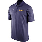 Nike Men's LSU Tigers Purple Stadium Striped Polo