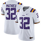 Nike Men's Tyrann Mathieu LSU Tigers #32 Dri-FIT Game Football White Jersey