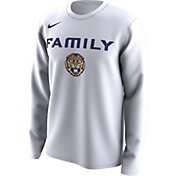Nike Men's LSU Tigers 'Family' Bench Long Sleeve White T-Shirt