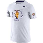 Nike Men's LSU Tigers Dri-FIT Rivalry Football Sideline White T-Shirt