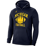 Jordan Men's Michigan Wolverines Blue Retro Football Hoodie