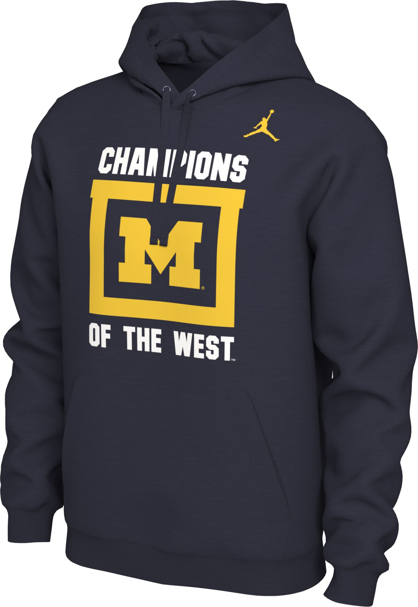 Jordan Men's Michigan Wolverines Blue 'Champions of the West' Local Pullover Hoodie