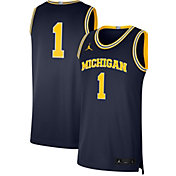 Jordan Men's Michigan Wolverines #1 Blue Limited Basketball Jersey