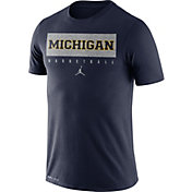 Jordan Men's Michigan Wolverines Blue Basketball Legend Practice T-Shirt