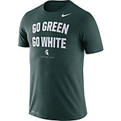 Nike Men's Michigan State Spartans Green Dri-FIT 'Go Green Go White' T-Shirt