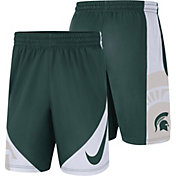 Nike Men's Michigan State Spartans Green Basketball Dry HBR Shorts